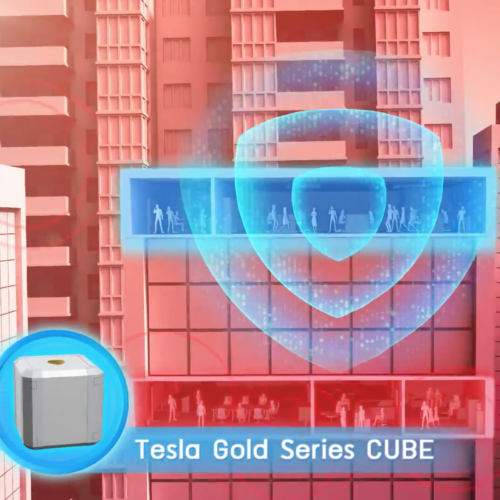 Tesla Gold Series Cube for CoolestMeditationEver.com